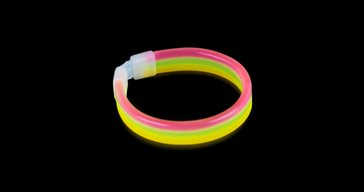 Glowsticks Wide Bracelet Tri-colored