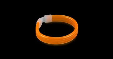 Glowsticks Wide Bracelet Orange