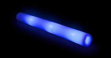 LED foamsticks Blue 3 functions